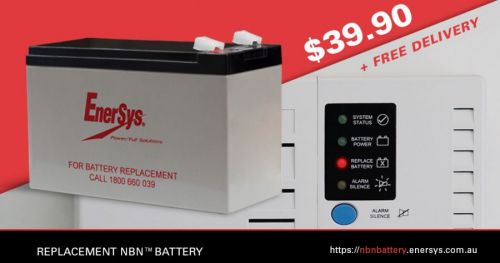 EnerSys sells replacement NBN™ batteries to consumers